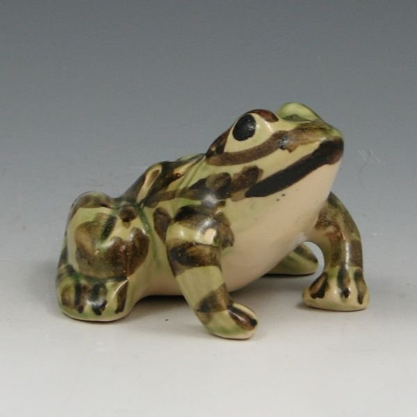 "1010: Brush McCoy 4"" Frog Flower Holder - Mint"