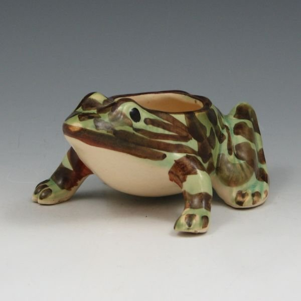 "1011: Brush McCoy 5 1/2"" Frog Planter - Mint"