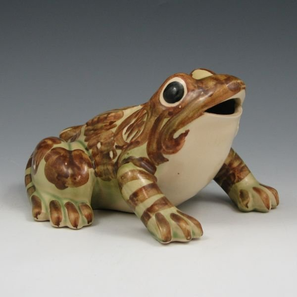 "1014: Brush McCoy 7 1/2"" Frog Figurine - Mint"