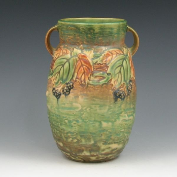 "1517: Roseville Blackberry 576-8"" Vase - Mint"