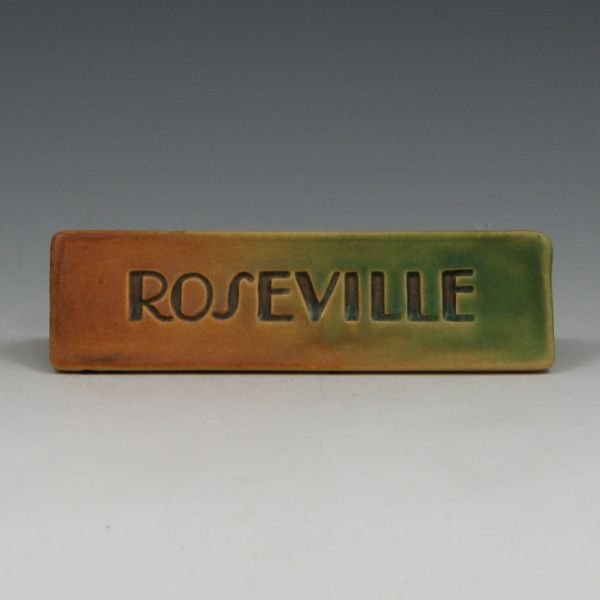 "1614: Roseville ""Rainbow"" or Futura Dealer Sign"
