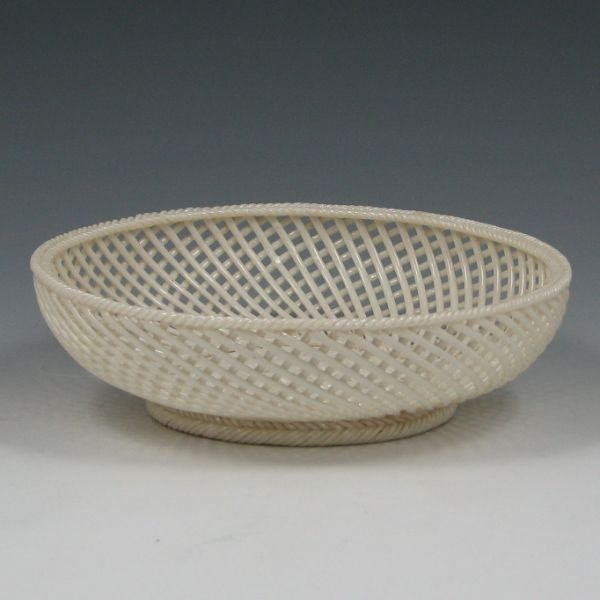 "6: Belleek Two Strand 6 3/4"" Basket Ca. 1890 - 1920"