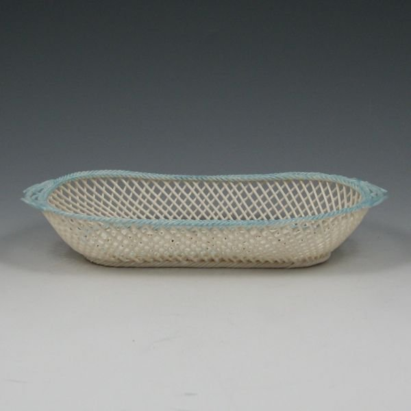 7: Belleek Four Strand Twig Basket Weave Tray - New