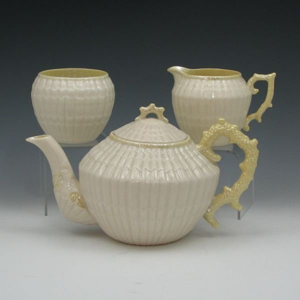 18: Belleek Limpet Tea Set - 4th Green