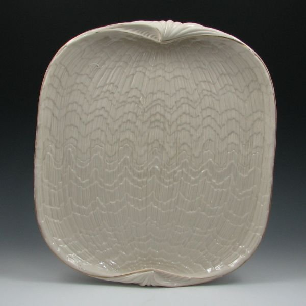 "285: Belleek Tridacna 15 1/2"" Serving Tray - 1st Black"
