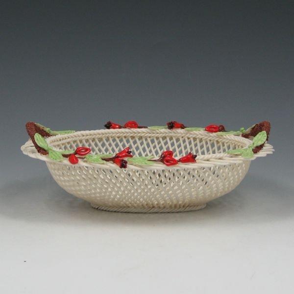 1300S: Belleek Fuchia Basket in Original Box