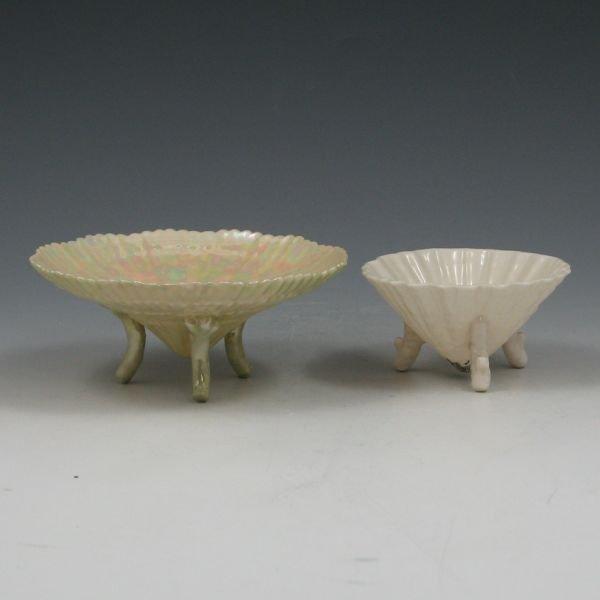 1300V: Belleek Footed Shell Bowls (2)