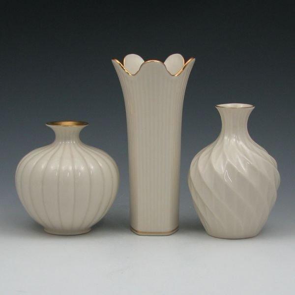 1306: Lenox Sweetbriar, Richmond & Meridian Vases - Min