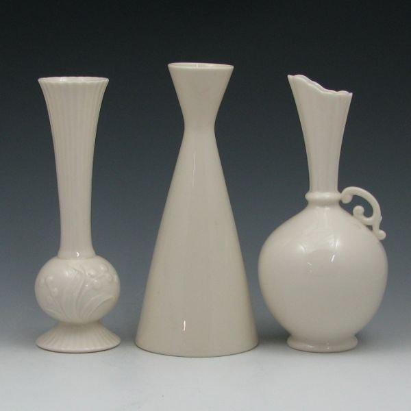 1309: Lenox Green Marked Vases (Three) - Mint