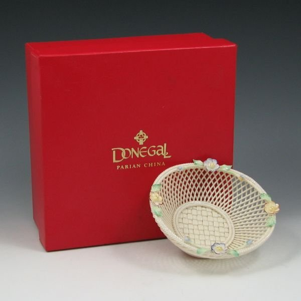 1439: Donegal Parian China Basket in Original Box