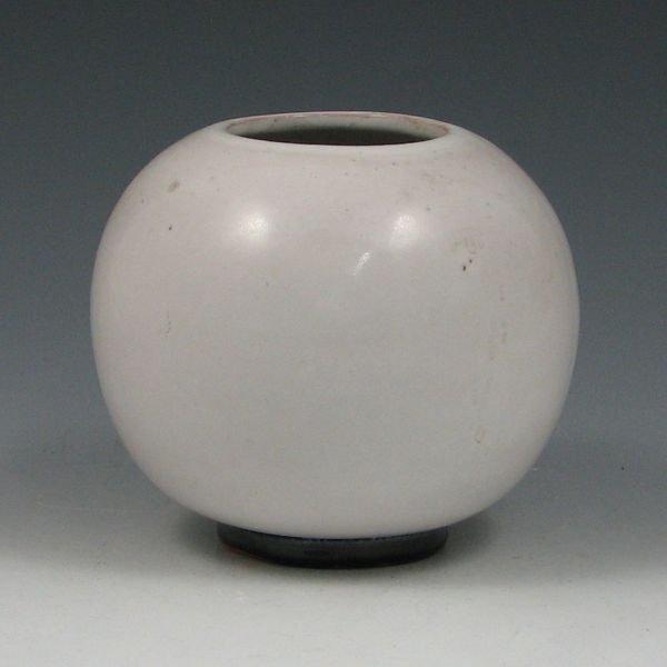 """2103: Frankoma 4 1/2"""" Ball Vase - Mint"""