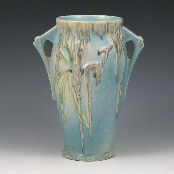 """2111: Roseville Moss 780-8"""" Vase"""