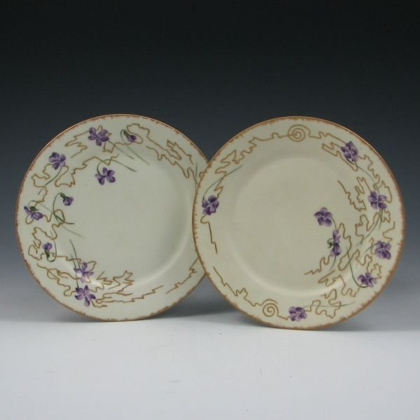 2123: Rookwood Artist Clara Chipman Newton Plates (2)