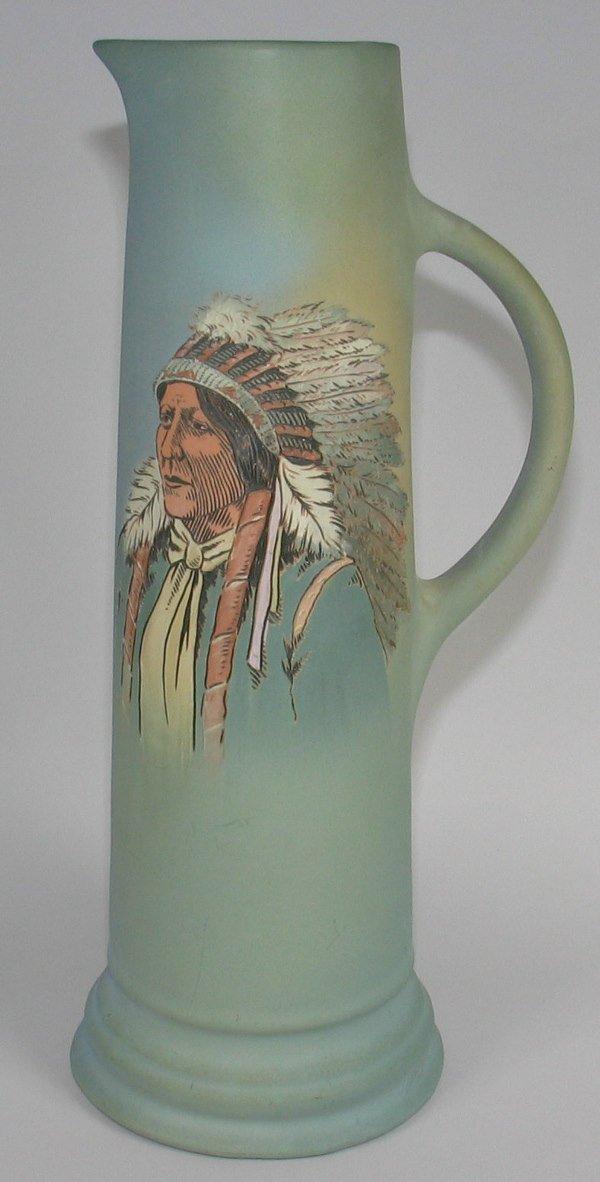 "3: Weller Dickensware 16"" Tankard w/ Indian Portrait"