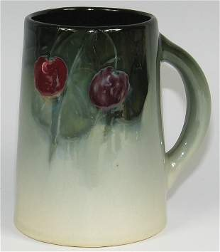 "Weller Eocean 5 1/4"" Mug w/ Cherries - Mint"