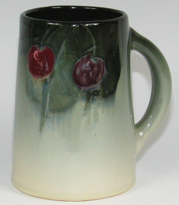 "4: Weller Eocean 5 1/4"" Mug w/ Cherries - Mint"
