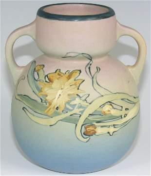 Weller Hudson Handled Vase by Pillsbury - Mint