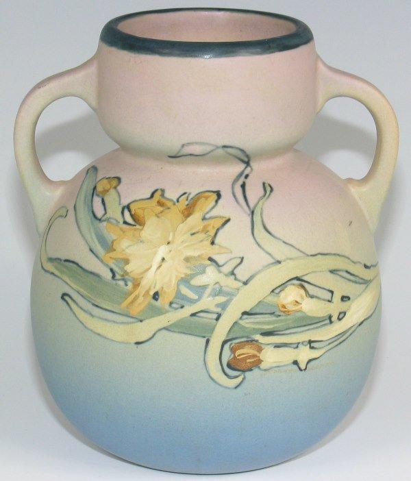 8: Weller Hudson Handled Vase by Pillsbury - Mint
