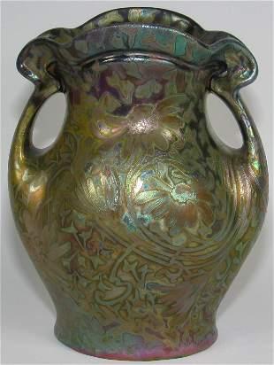 "Weller Sicard 9"" Double Handled Vase - Mint"