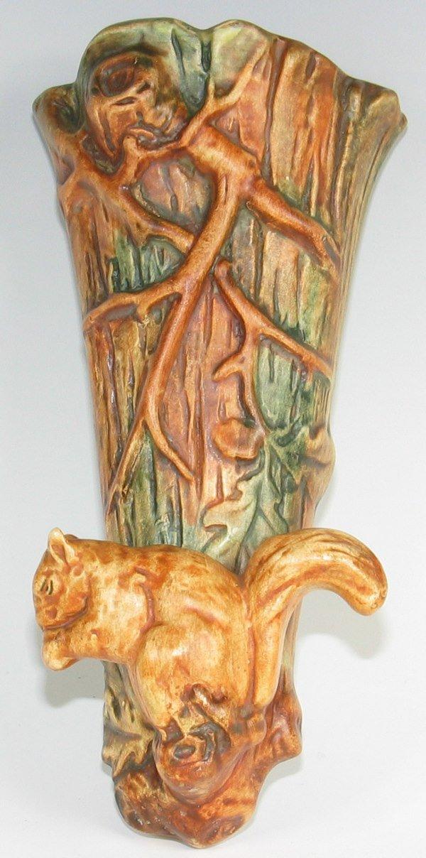 "13: Weller Woodcraft 9 1/2"" Squirrel Wall Pocket"