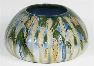 Tim Eberhardt Wisteria Squat Vase from 1997 - Mint