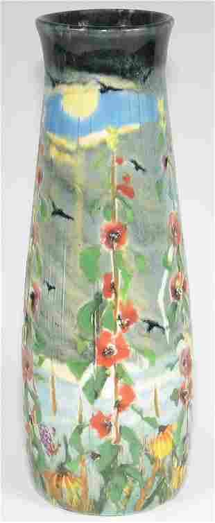 "Tim Eberhardt Storm & Flower 9 1/4"" Vase - Mint"