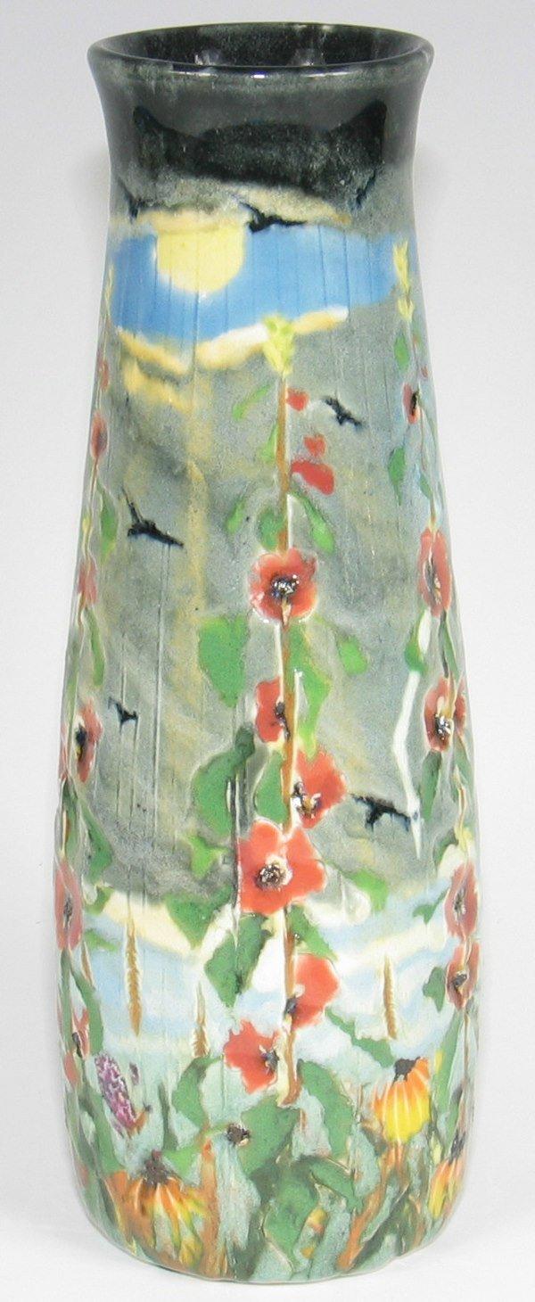 "16: Tim Eberhardt Storm & Flower 9 1/4"" Vase - Mint"