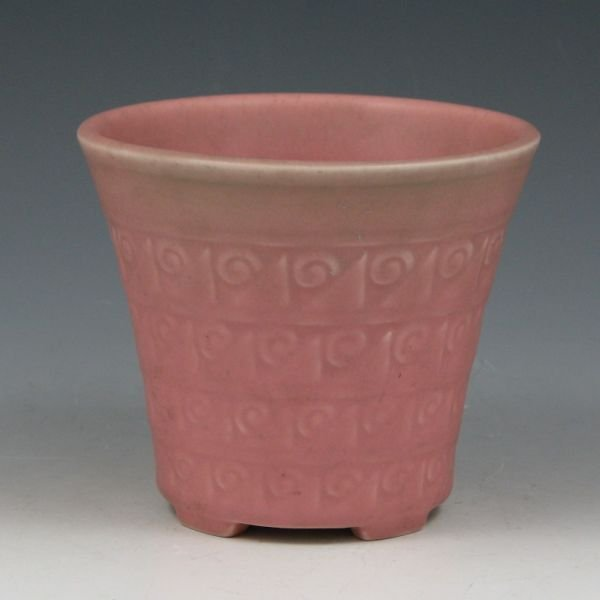 1217: Rookwood 1929 Matte Green & Pink Vase - Mint