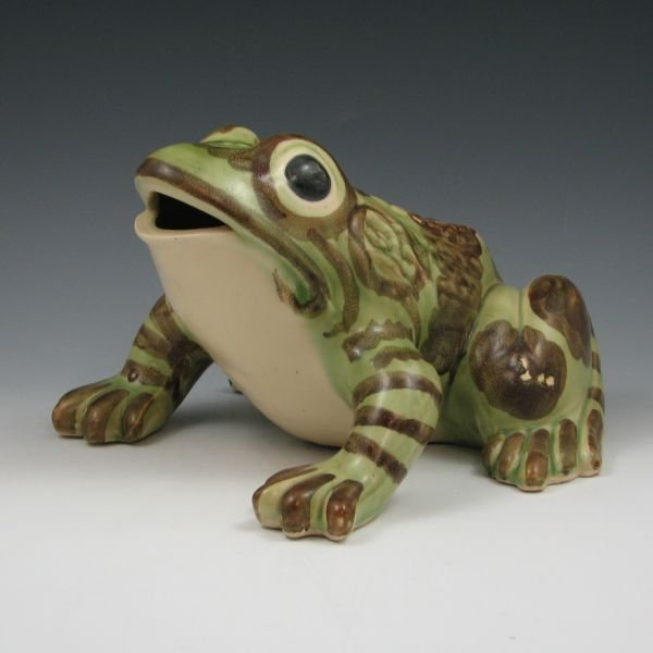 "1222: Brush McCoy 9 1/2"" Frog Figurine - Mint"