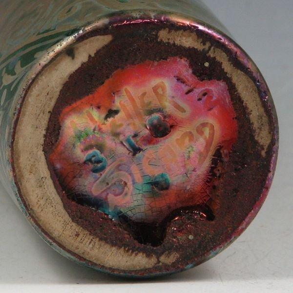 """49: Weller Sicard 7 3/4"""" Spider Mum Vase - 3"""