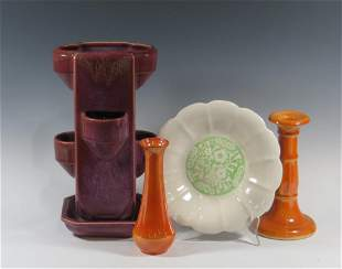 Four Pieces of Cowan Pottery