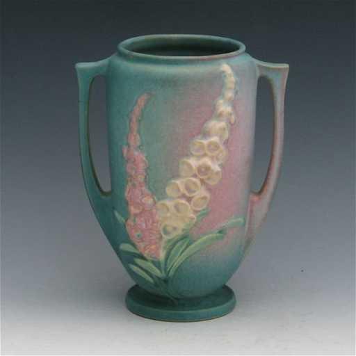 356 Roseville Foxglove 45 7 Vase Mint