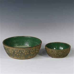 Two Brush McCoy Bowls