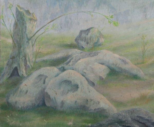 24: Female Figure as Rocks