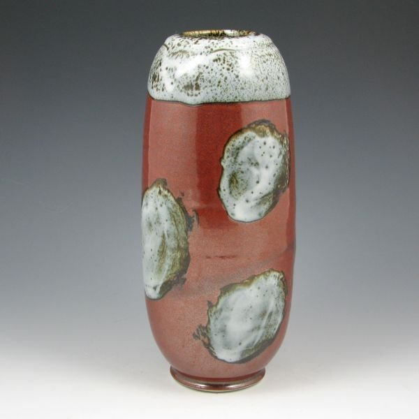 """1: Larry Spears 10 1/4"""" Abstract Vase - Mint"""