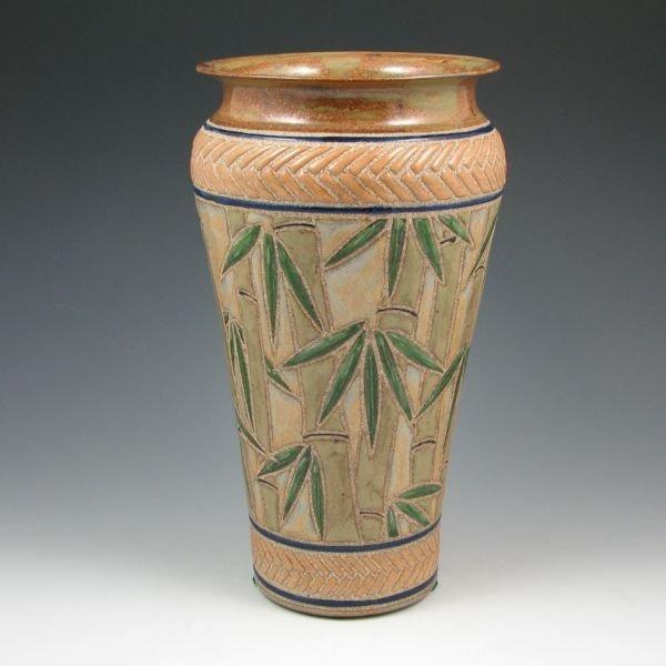 "2: Cathra-Anne Barker 11 1/8"" Bamboo Vase - Mint"