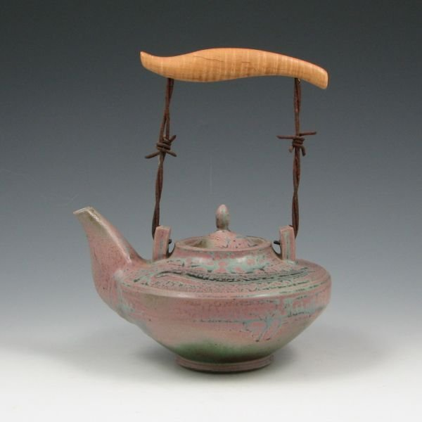 """9: Larry Spears """"Spiked"""" Teapot - Mint"""