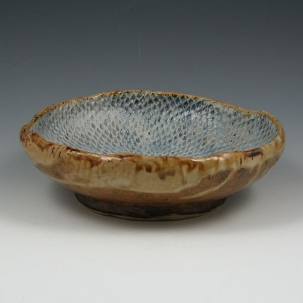 "13: Terry Dukeman Stoneware 8 3/4"" Bowl - Mint"