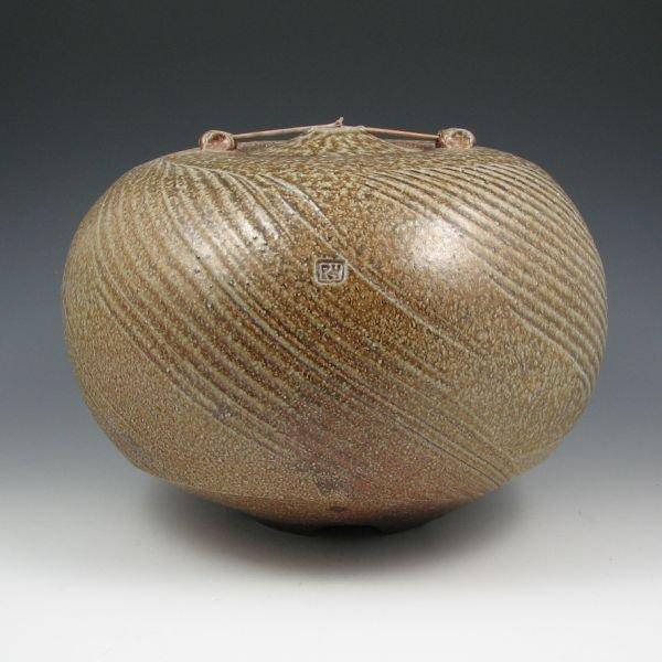 16: Rand Heazlitt Salt Glazed Lidded Vessel
