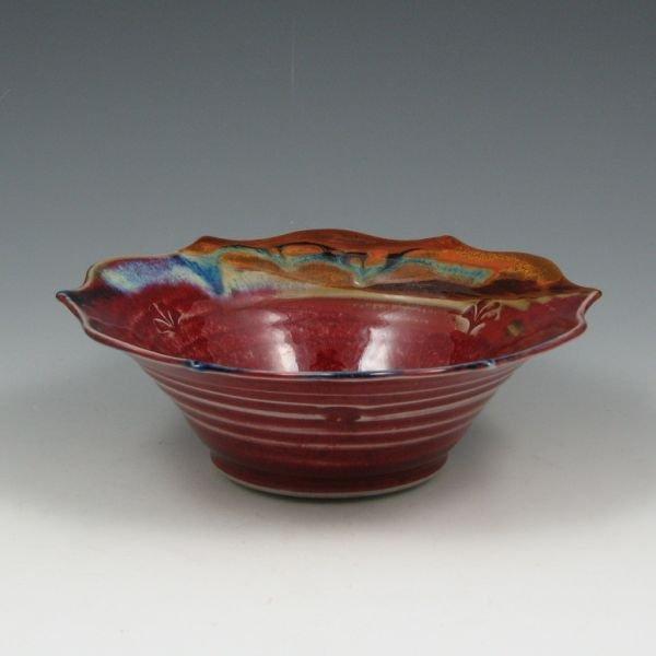 17: Scott Frankenberger Flambe` Glazed Bowl - Mint