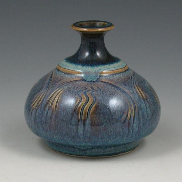 "19: Bob Reiberg 4"" Flambe` Vase - Mint"