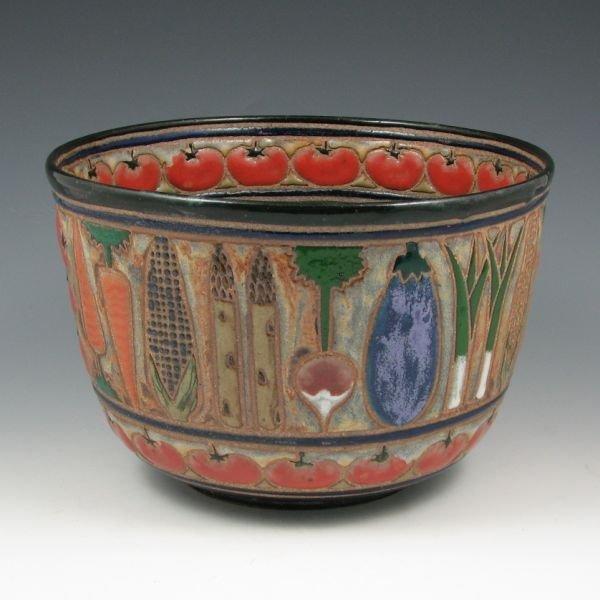 "24: Cathra-Anne Barker 9"" Vegetable Bowl - Mint"