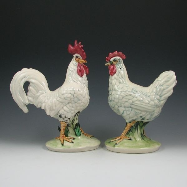 22: Pennsbury #127 Rooster & #128 Hen Pair - Mint