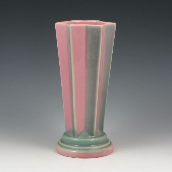 "2209: Roseville Futura 385-8"" Shooting Star Vase"