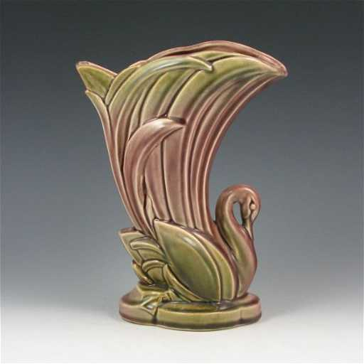 93 Mccoy One Of A Kind Cope Design Swan Vase