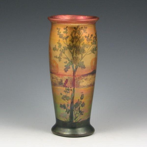 "13: Weller LaSa 8"" Scenic Vase - Mint"
