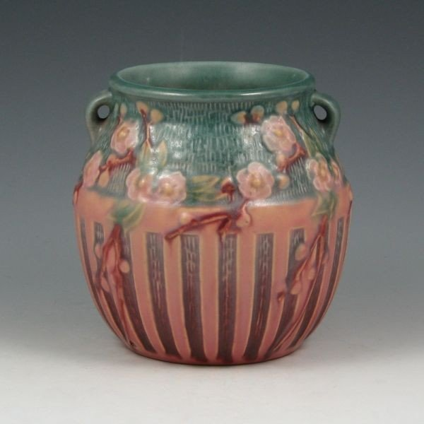 """15: Roseville Cherry Blossom 619-5"""" Vase - Mint"""