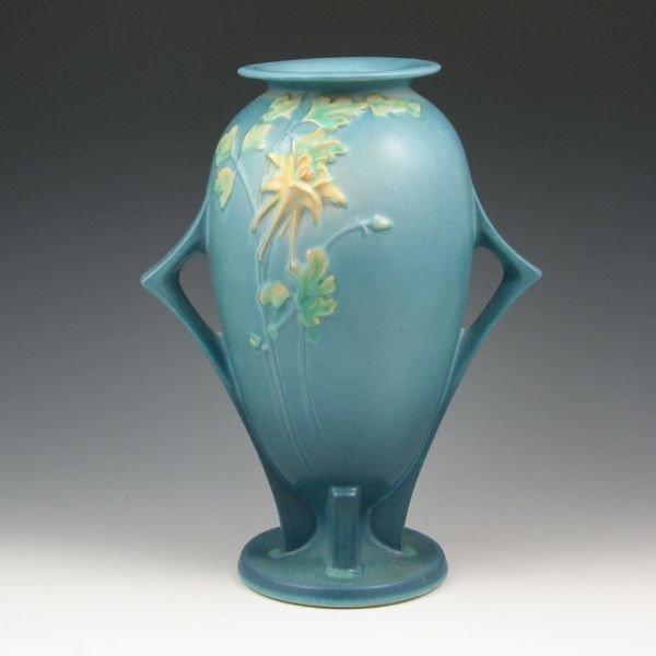 """16: Roseville Columbine 25-12"""" Vase - Mint"""