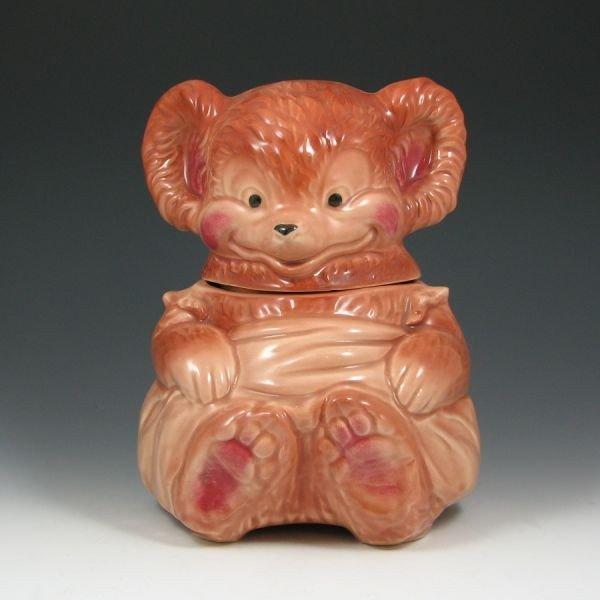 4: Brush Bear (Feet Together) Cookie Jar - Excellent