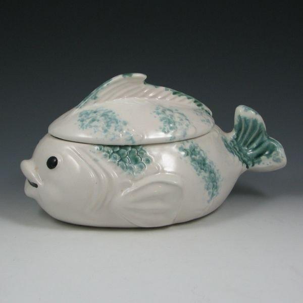 6: Brush Fish Cookie Jar - Excellent